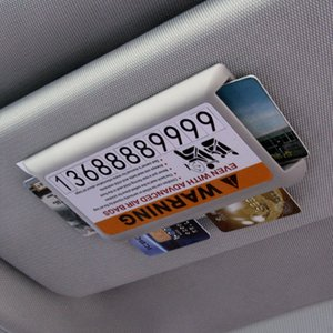 Wholesale Temporary Parking Card Sun Visor Card Holder Business Holder Storage Box Sun Visor High Speed Box