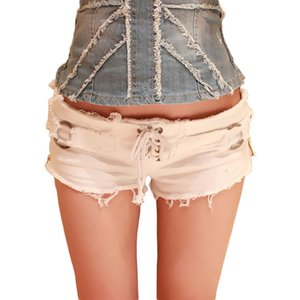 651 # 2020 new summer European and American fashion sexy low waist ripped ladies denim shorts hot pants jeans