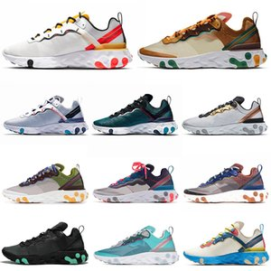 Wholesale 2020 react element running shoes men women Orange RED ORBIT Moss Royal Tint Dusty Peach mens trainers Sports Sneakers