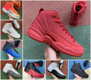 Wholesale retro 12 ovo white gold for sale - Group buy 12 OVO White University Gold Black Mens Basketball Shoes s Flu Game Royal Jumpman Taxi Retroes Indigo Playoff Winterized Designer Sneakers