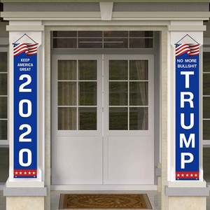 Keep America Great Flag 2pcs 1 Pair America Couplet 2020 Trump Blue Door Window Hanging Couplet Home Decor Hanging America Banner BH3423 TQQ
