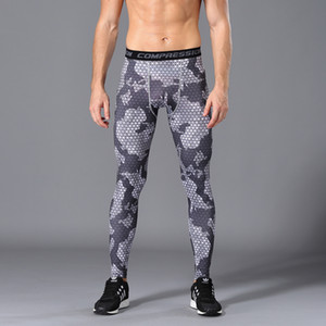 Men Compression Running Tight Pants Gym Bodybuilding Sport Trousers Brand Camouflage Army Green Skinny Leggings Fitness jogging