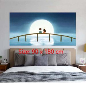 DIY Bedside Sticker Bedroom Wall Mural Self-adhesive Waterproof Wall Painting Home Decor Bedroom Wallpaper Living Room Wall Painting on Sale