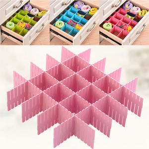Wholesale Adjustable Plastic Drawer Divider Organizers For Shoe Underwear Socks Expandable Drawer Cabinet Board Divider Grid Household WX9