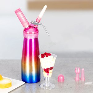 250 500ml Cream Gun Aluminum Cream Foamer Stainless Steel Creams Enamel Vase Nitrogen Siphon Bottle Cream Making Tools LJA3074
