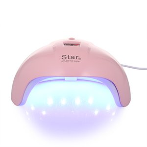 Wholesale 24W USB Charging Nail Lamp Dryer LED UV Acrylic Nail Dryer Curing Lamps Smart Fingernail Toenail Gel Curing Tool Art Lamp
