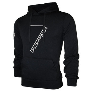 Wholesale Cristiano Ronaldo Hoodie Men Cool Long Sleeve Pullover Sweatshirts Cr7 Print Sweatshirts Hip Hop Streatwear Loose Sport Suit Tracksuit