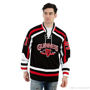 Guinness St. Patricks Day LARGE 1759 STANLEY Men's RETRO Hockey Jersey Embroidery Stitched Customize any number and name on Sale