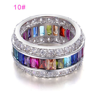 Artificial Gem Elegant Jewelry Crystal Zircon Fabala Alloy Women Ring Wedding Charms Girl Gifts Stylish Multi Colour Size 6-12