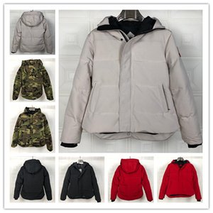 mens designer jackets hooded white black camouflage cold winter coats waterproof windbreaker jacket christmas gift warm canadian down jacket
