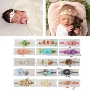 Wholesale 2019 Newborn Photography Props Baby Floral Hair Accessories Infant Shooting Headband Baby Boys Girls Photo Props
