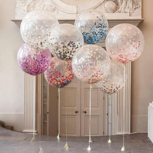 Wholesale scrap papers for sale - Group buy OPP package latex balloon inch Colorful Wedding Birthday Party Decor Inflatable Transparent balloons with Paper Scrap