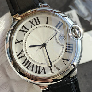 Wholesale New Fashion Top Quality Luxury Watch Brand Designer Swiss Quartz Movement Ultra thin Watches Genuine Leather Strap Discount Price Best Gift