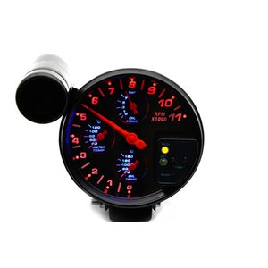 5 inch 4 IN 1 Car Meter Water Temperature Gauge Oil Temp Gauge Oil Pressure Gauge Tachometer With Sensors Auto Racing Modified on Sale