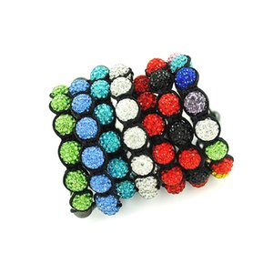 Wholesale High quality Shambala bracelet beaded braid color options mm beads female ornaments a747