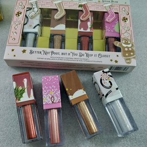 Faced BETTER NOT POUT BUT IF YOU DO KEEP IT GLOSSY Rich and Dazzling Christmas Treats Gloss Set 4pcs lot free shipping