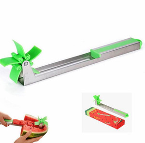 Wholesale kitchen tools resale online - Windmill Watermelon Cutter Shredder Fruit Slicer Melon Splitter Slice Tool Watermelon Cutter Tongs Knife Corer Kitchen Tools KKA7849