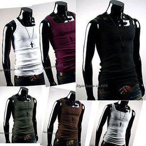 Wholesale BNWT NEW Undershirt Cotton Men T shirt A Shirt Wife Beater Ribbed Muscle Vest Top US X7