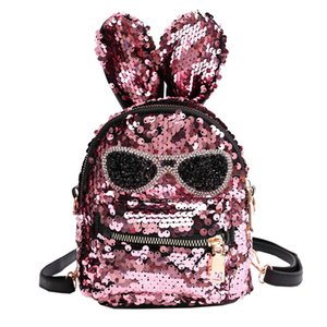 Wholesale Fashion Cute Girls Sequins Shoulder Bag Student Children School Bag Travel Backpacks Casual Style Backpack yl5