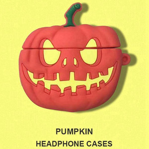 Wholesale New Arrival Halloween pumpkin Silicone Airpod Cases for Airpods1 nd Protective Earphone Cover Case Shockproof Sleeve