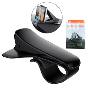 Wholesale Universal Car Mount Cell Phone Holders Adjustable Dashboard HUD Simulating Design Car Stands For iPhone Samsung Huawei with Retail Packages