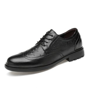 ingrosso scarpe uomo oxford estivo-Mens Oxfords Primavera Estate Dress Leather Shoes Male Formal Shoe Genuine Designer Designer Weeding Footwear