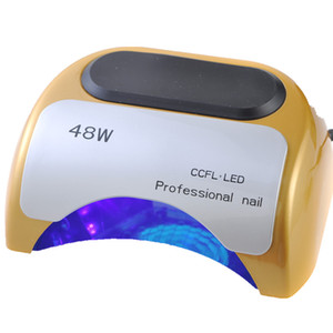 Wholesale 48w ccfl nail lamp resale online - Professional CCFL Led Lamp W LED UV Lamp For Nails Nail Dryer with Auto Sensor s s s Timer Nail Tools V V