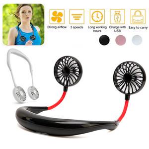Portable Fan Hand Free Personal Mini Fan USB Rechargeable Neck Fan 360 Degree Adjustment Head Hanging Neck Fans for Travel Outdoor