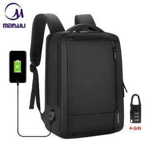 Wholesale 2019 Mens Anti theft quot Inch Laptop Backpack Usb Charging Waterproof Male Business Travel Back Pack Boys School Bagpacks SH190725