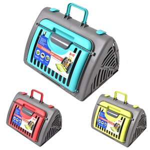 Wholesale Pet Air Box Foldable Pet Carrier Plane Transport Box Portable Cat Dog Carrier Outdoor Travel Bag Breathable Small Pets Handbag