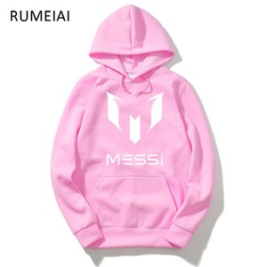 Wholesale Men s Designer Round Neck Hoodie Sweatshirt Jacket Black Unisex Football Fan Messi Turtleneck Sports Jacket XL