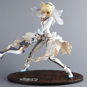 Wholesale 23cm Anime Fate stay Night GSC EXTRA CCC White Dress Saber Bride Action Figure Model Collection Fate Night Girl Figure Doll new