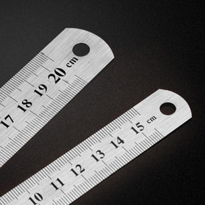 Wholesale Stainless Steel Metal Ruler Metric Rule Precision Double Sided Measuring Tool cm cm cm