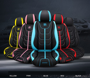 Wholesale yellow car seat covers resale online - Universal Fit Car Interior Accessories Seat Covers For Sedan PU Leather Adjuatable Five Seats Full Surround Design Seat Cover For SUV D361
