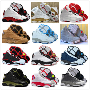 Wholesale g floor for sale - Group buy 13 s Basketball Shoes Cap And Gown Phantom Chicago GS Hyper Royal Black Cat Flints Bred Brown Wheat He Got Game Melo DMP Hyper Sneaker