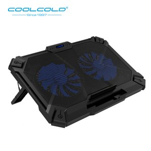 Wholesale Coolcold Laptop Cooler Usb Ports And Two Cooling Fan Laptop Cooling Pad Notebook Stand For Inch Usb Laptop Tablet Pc T190904