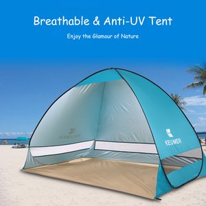 Wholesale KEUMER Automatic Beach Tent Persons Camping Tent UV Protection Shelter Outdoor Instant up Summer cm