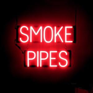 Wholesale HOT SALE LED SMOKE PIPES SIGN LED NEON TOBACO PIPES SIGN FOR BUSINESS SHOP SMOKE SHPE SIGN WITH PVC PANNEL LED FLEX NEON