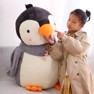 Wholesale animals zoos resale online - Cute Animal Penguin Doll Large Penguin Plush Toy Pillow Zoo Aquarium Doll Decoration Birthday Gift inch cm DY50858