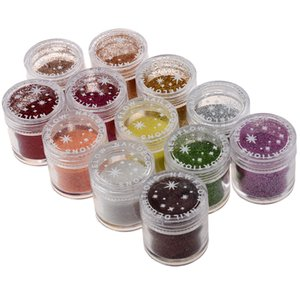 Wholesale 12 x Fine Acrylic Glitter for Nail Art Tips Design Decoration Glitter Dust g Jar