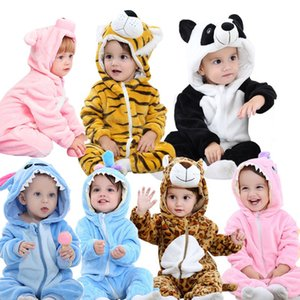 Flannel Rabbit Cotton Baby Boys Girls Animal Rompers Spring Winter Stitch Baby's Sets Kigurumi Newborn Clothes 2019 J190524 on Sale