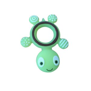 Silicone Teether Safety Tortoise Baby Kids Food Grade Silicone Soother Teether Teething Turtle Chewable Pacifier Bullet Glue Grinding Rod
