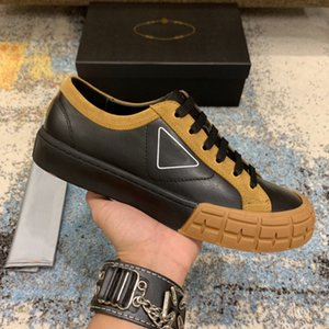 Wholesale color block sneaker resale online - 2020 New Luxury Shoes Men Color Block Genuine Leather Low Top Sneakers For Man Designer Flats Casual Shoes Brand Vintage Dress Shoes