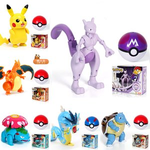 Pokemons Toy Pikachu Charizard Wonderful Eva flower Blastoise Gyarados Mewtwo Kawaii action figures toy Decompression kids toys on Sale