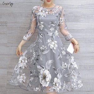 Wholesale Summer Hollow Out Dress Organza Floral Print Party Mini Dresses Female Curto Sexy Sundress Vestidos De Festa Designer Clothes
