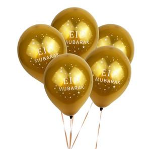 Eid Mubarak Balloons Happy Eid Balloons Islamic New Year Decor Happy Ramadan Muslim Festival Decoration supplies Home Outdoor SN4450