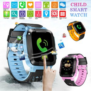 Wholesale Smart Watch Kids Anti lost Kids Safe GPS Tracker Touch Screen SOS Call GSM Smartwatch Bracelet Fit Android IOS