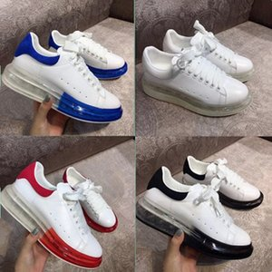 New high version autumn leather MQ small white shoes Crystal gas bottom sports casual shoes MQ thick sole shoes men's and women's board shoe