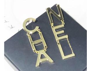 In Stock Hot Sale Designer Full Letter Tassel Earrings For Women Fashion Stud Earring Jewelry Gifts