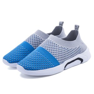 Wholesale QIUTEXIONG Children Shoes For Boys Sneakers Girls Casual Shoes Kids Sock Shoes Mix Color Slip-on Breathable Outdoor FootwearMX190917